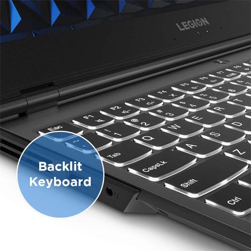 Lenovo Legion Y540 laptop keyboard with blacklit